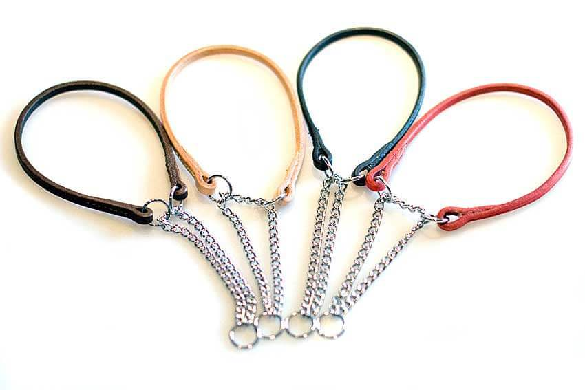 Show collars to match our show leads are available in 5 sizes