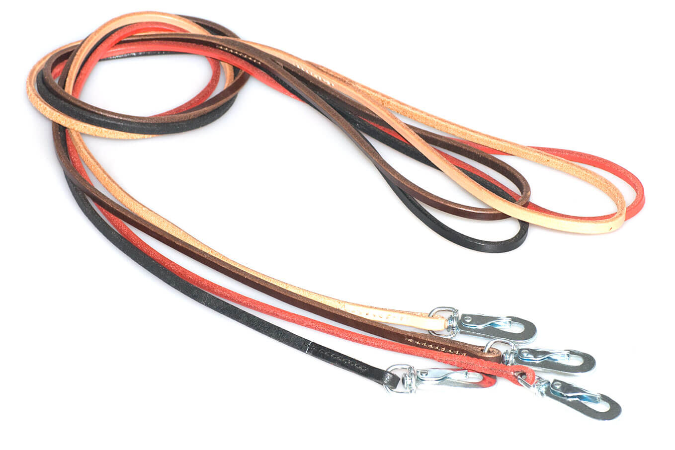 Dog show leads are available in four colours