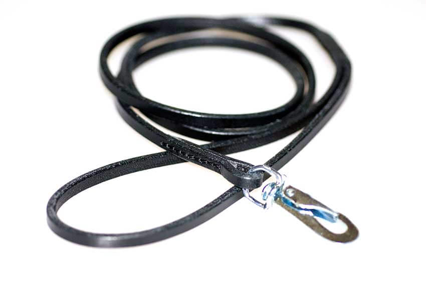 Black leather show lead