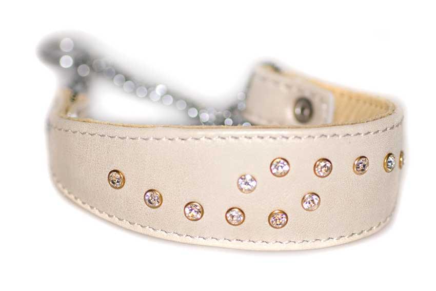 Swarovski crystal martingale sighthound collar