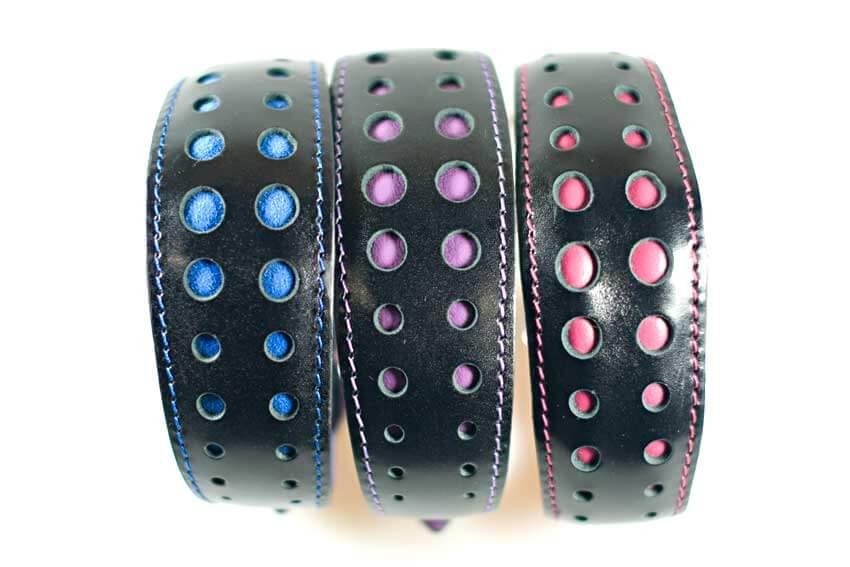Leather handmade leather lurcher collars