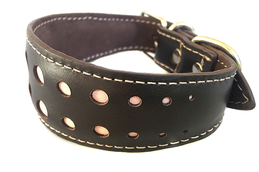 Elegant champagne pink whippet collar