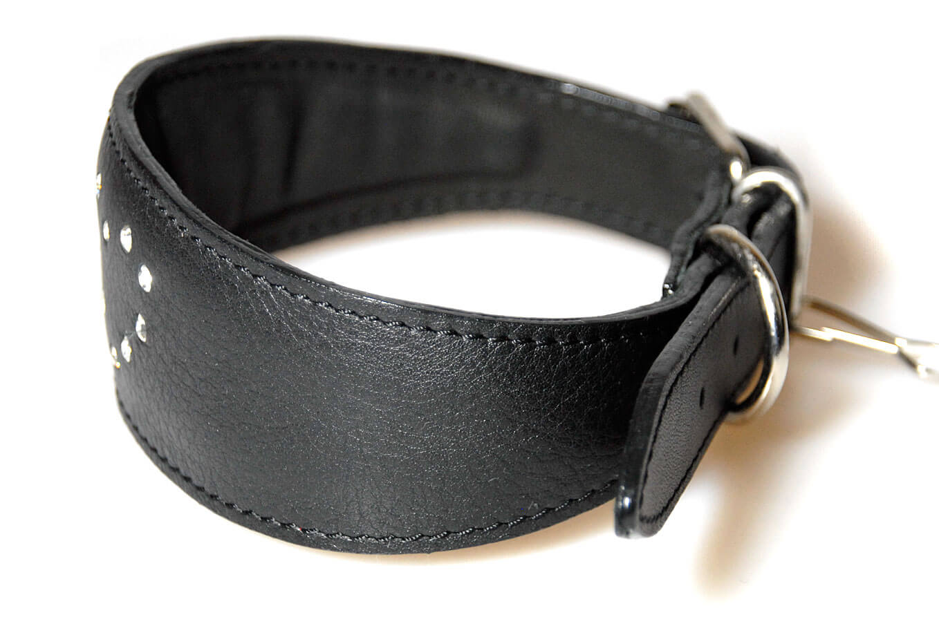All Dog Moda leather whippet collars are fully lined and padded throughout