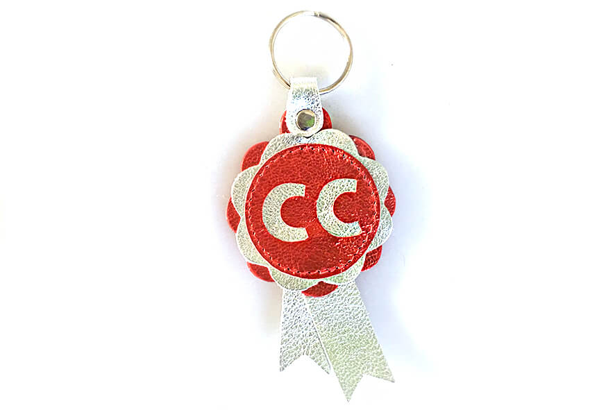Leather CC key fob / bag charm