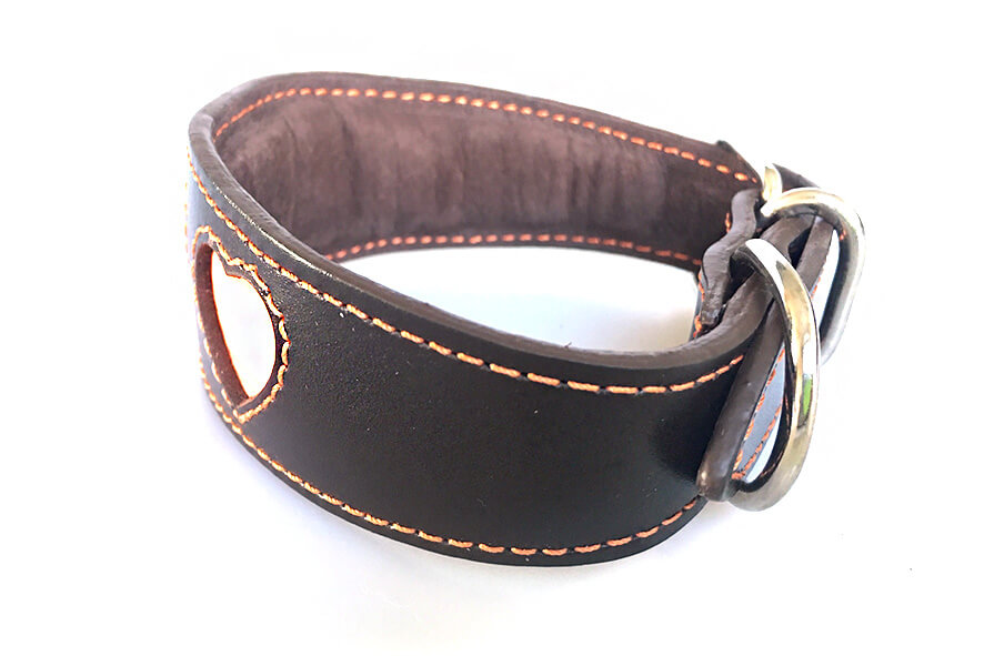 Full brown leather lining and padded along the whole length