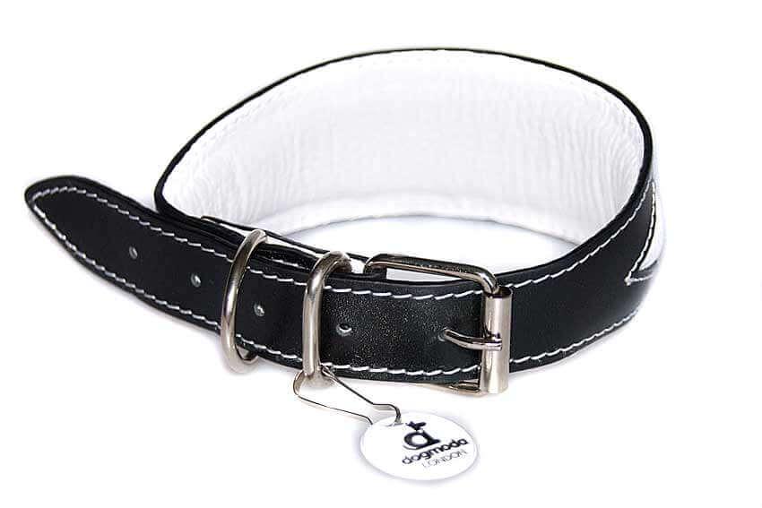 Full white leather lining and generous padding