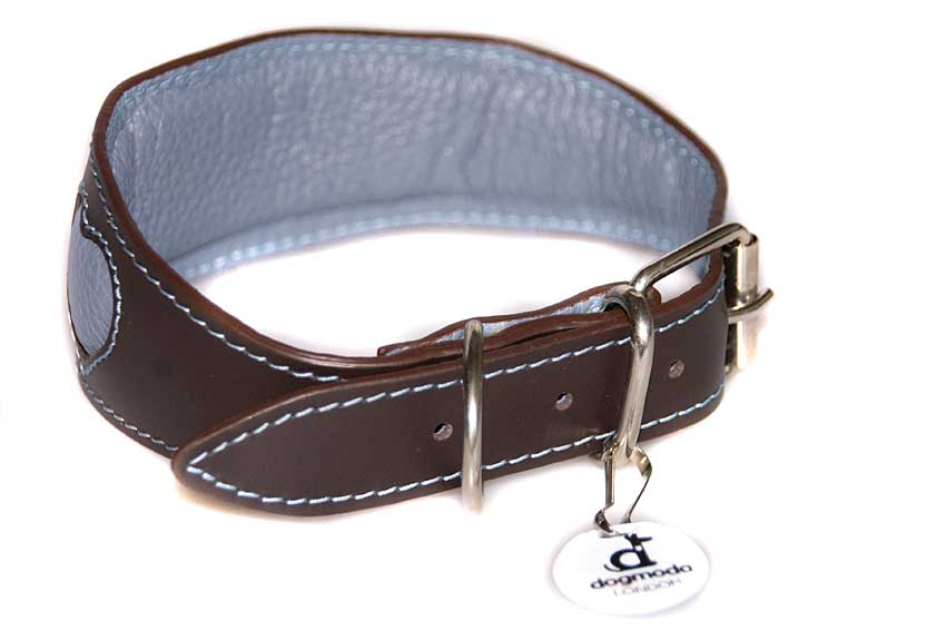 Full leather lining and generous padding on this hound collar