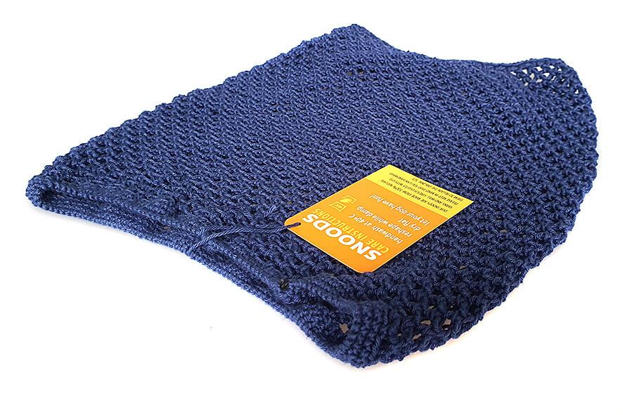 Navy blue crochet cotton snood