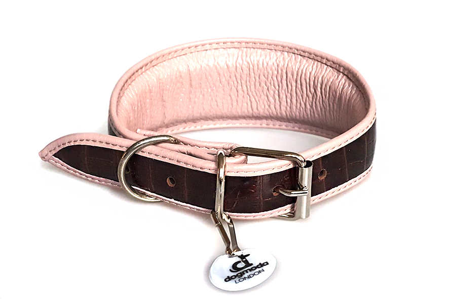 Dog Moda collars are fully lined with soft leather and padded for ultimate comfort