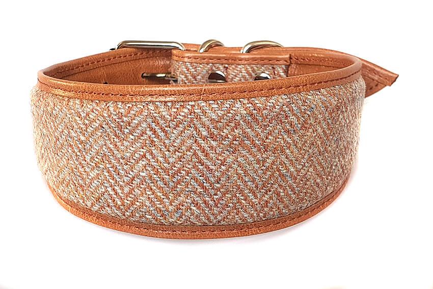 Orange Tarras tweed sighthound collar