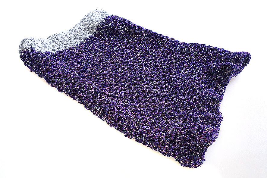 Royal purple metallic Saluki Afghan hound dog snood
