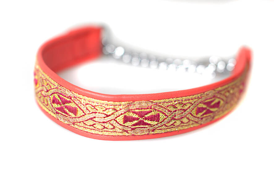 Red martingale collar - wide