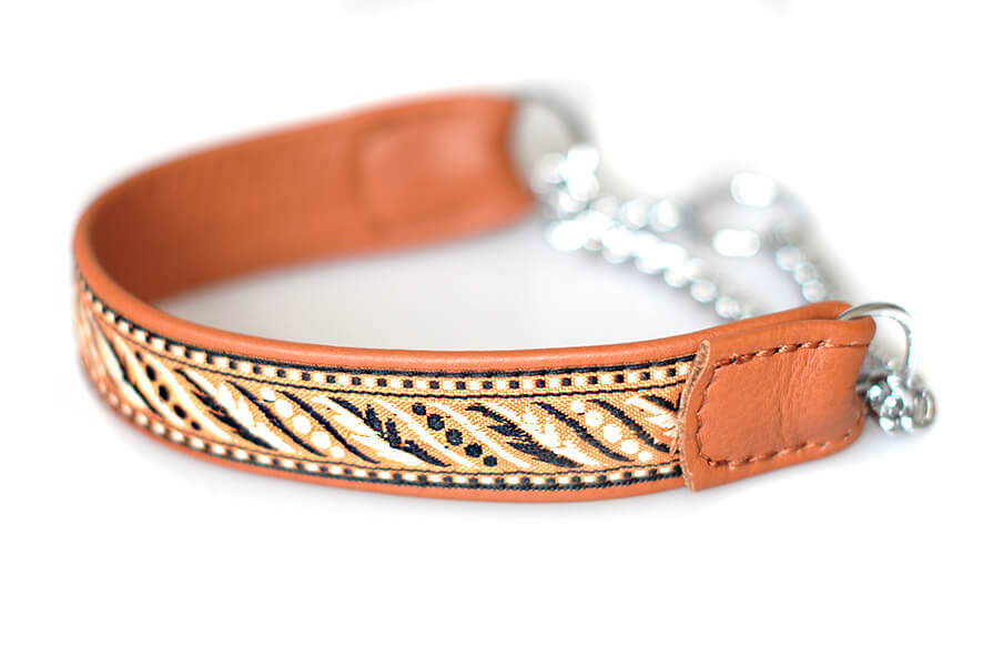 Tan martingale collar - wide