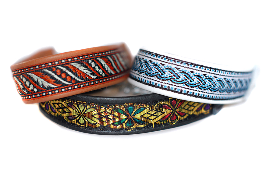 Size XS martingale collars with ribbon - wide