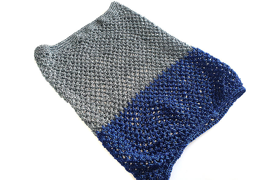Silver blue combination colours crochet Afghan hound Saluki dog snood