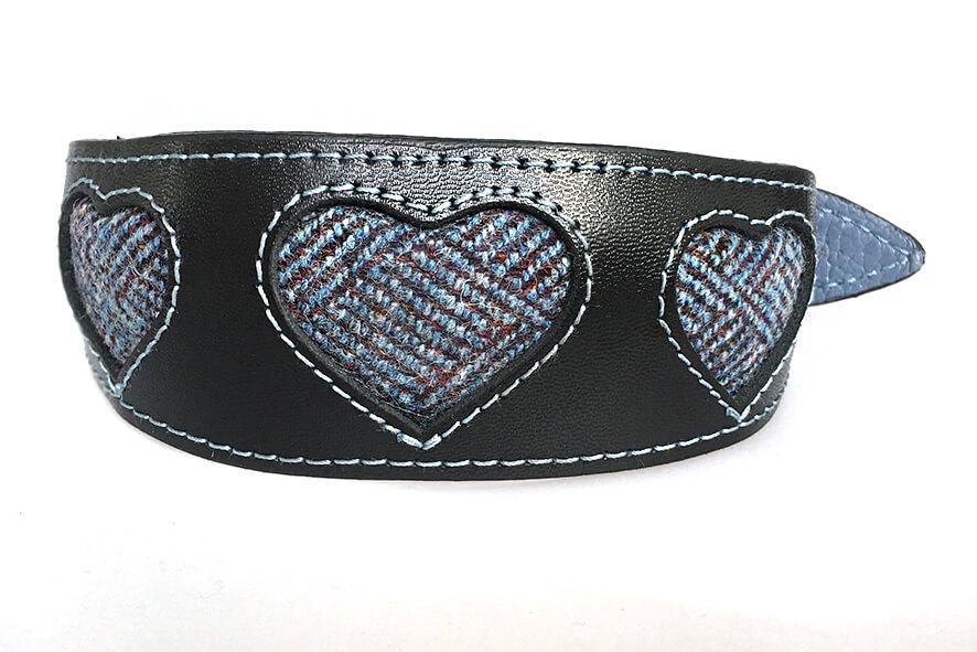 Bluebell Tarras tweed hound collar