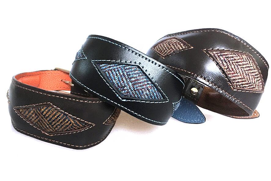 Tarras tweed rhombi whippet collars
