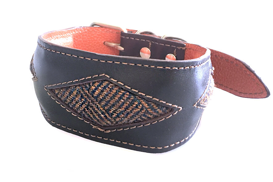 Highland tweed rhombi hound collar