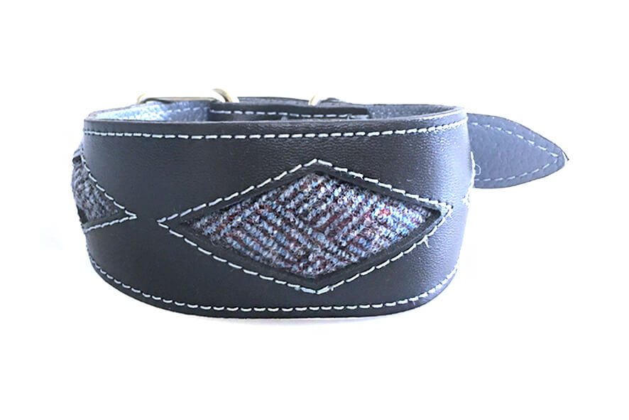 Bluebell diamonds whippet collar