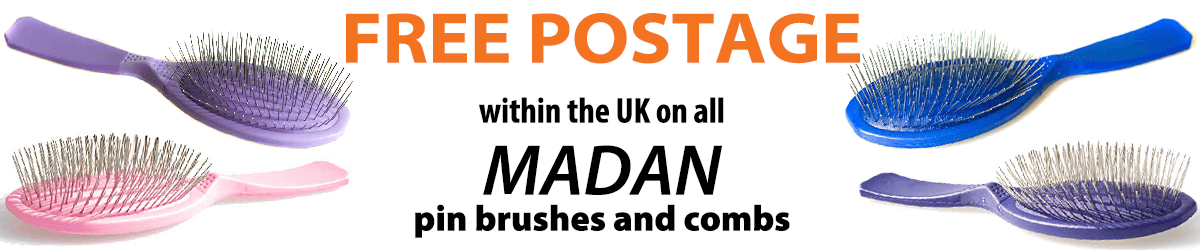 Madan pin brushes are back in stock. Free delivery