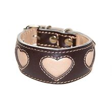 Beige hearts hound collar