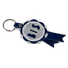 est in Show rosette key ring in blue