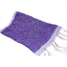 Purple crochet snood with tassels