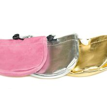 Treat pouches are available in black, red, brown, white, pink, silver and gold
