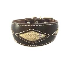 Barley tweed rhombi whippet collar