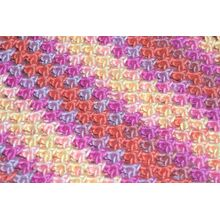 Soft organic multi striped yarn