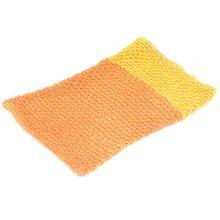 Orange and yellow cotton crochet dog snood