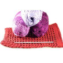 Handmade organic cotton crochet dog snood from Dog Moda