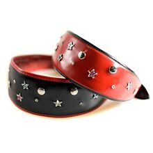 Red and black stars hound collars from Dod Moda