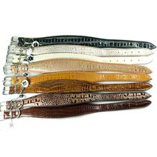 Safari range of snake imitation leather collars