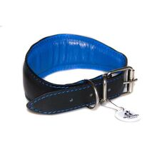 Dog Moda MOD / RAF pilot leather sighthound collar - fully padded and lined for extra comfort