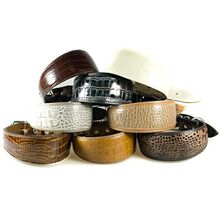 Safari range of leather whippet collars