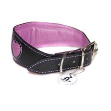 Lilac hearts sighthound collars is fully lined and padded