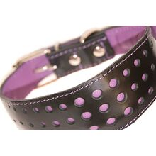 Elegant dots in lilac leather