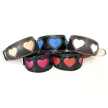 Hearts collection of Whippet puppy collars