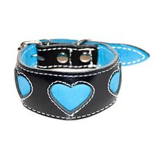 Turquoise hearts IG collar