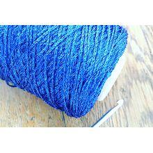 Sapphire blue metallic polyester yarn