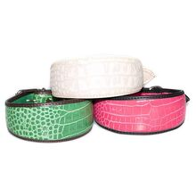 Greyhound collars. Soft, padded and fully lined with soft goat skin leather