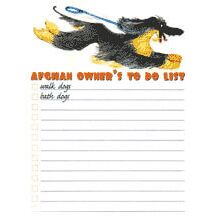 Afghan Hound To Do List Stationery by Dog Moda