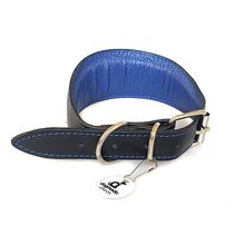 Elegant blue sighthound clear is fully lined and generously padded