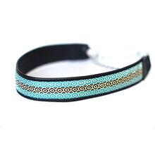 Wide black martingale collar