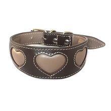 Mocha brown hearts collar