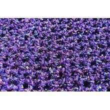 Beautiful purple metallic yarn and fishnet hand crochet pattern