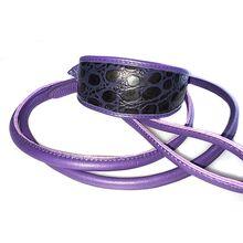Purple indigo snake collar with purple rolled lead
