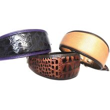 Brown lizard, brown python and purple indigo snake hound collars in Size M
