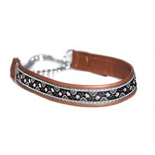Brown ribbon martingale collar